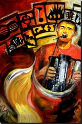 Art: Zydeco! - SOLD by Artist Diane Millsap