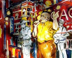Art: Chicago Blues - SOLD by Artist Diane Millsap