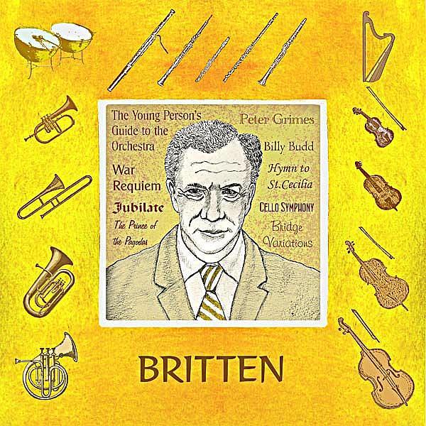 Art: Benjamin Britten by Artist Paul Helm