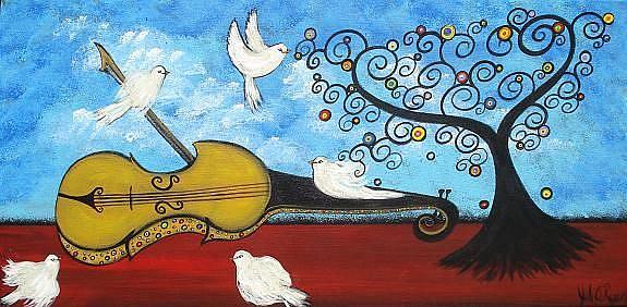Art: Peace and Music by Artist Juli Cady Ryan
