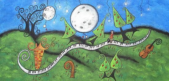 Art: Musicland by Artist Juli Cady Ryan