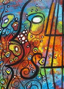 Detail Image for art Violin and Flowers