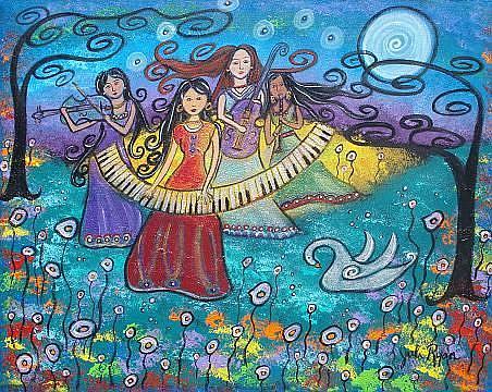 Art: Music Is Magic by Artist Juli Cady Ryan