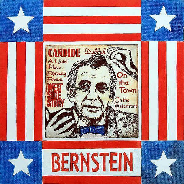 Art: Leonard Bernstein by Artist Paul Helm