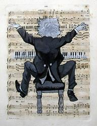 Art: The Pianist by Artist Paul Helm