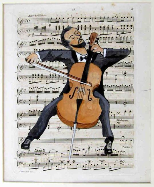 Art: The Cellist by Artist Paul Helm