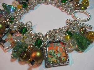 Detail Image for art Vintage OZ Altered Art Charm Bracelet