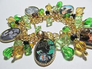 Detail Image for art Wizard of OZ Altered Art Charm Bracelet ooak