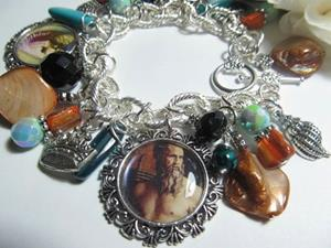 Detail Image for art TRITON's PALACE Altered Art Charm Bracelet