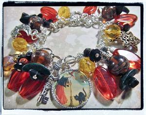 Detail Image for art Witch's Den Altered Art Charm Bracelet