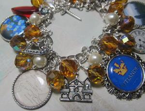 Detail Image for art Outlander altered art charm bracelet