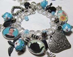 Art: PRIM~Tea Life~ Altered Art Charm Bracelet ooak by Artist Lisa  Wiktorek