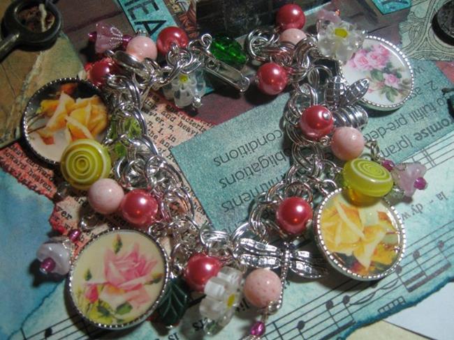 Garden Charm Bracelet Plated Charm Bracelet