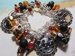 Art: Witch Spells Altered Art Charm Bracelet by Artist Lisa  Wiktorek