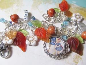 Detail Image for art School Days Altered Art Charm Bracelet ooak