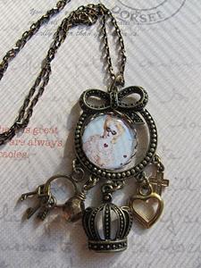 Detail Image for art Marie Antoinette Altered Art Necklace