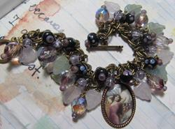 Art: DREAMS Fairy Altered aRt Charm Bracelet ooak by Artist Lisa  Wiktorek