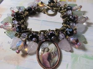 Detail Image for art DREAMS Fairy Altered aRt Charm Bracelet ooak
