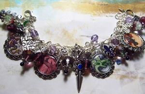 Detail Image for art Dragons Lair altered art charm bracelet