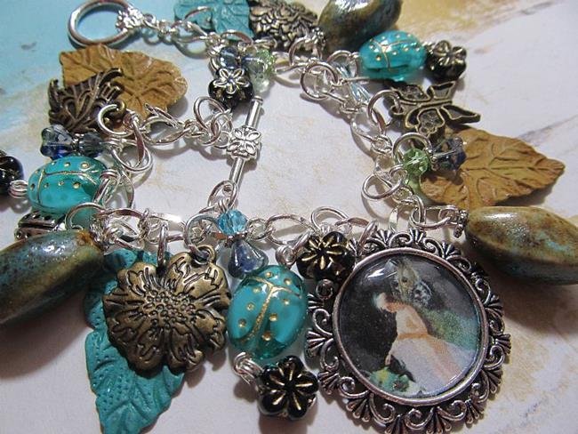 Garden Charm Bracelet Altered Art Charm Bracelet