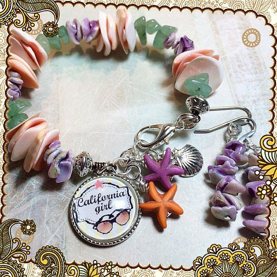 Art: California Girl Beach bracelet by Artist Lisa  Wiktorek