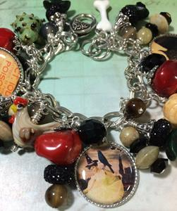 Detail Image for art Witches Den, Altered art charm bracelet
