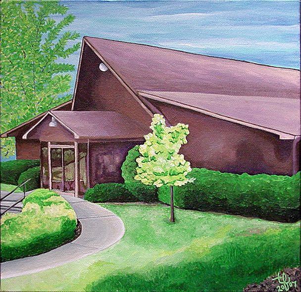 Art: Trinity School by Artist Tina Marie Ferguson