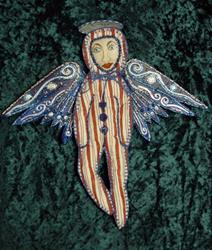 Art: Patriotic Angel Ornie by Artist Tina Marie Ferguson