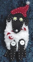 Art: Santa Sheep by Artist Tina Marie Ferguson