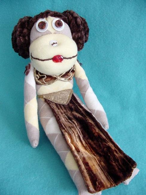 Art: Princess Leia Slave Monkey by Artist Tina Marie Ferguson