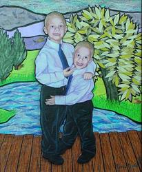 Art: Walker Boys by Artist Tina Marie Ferguson