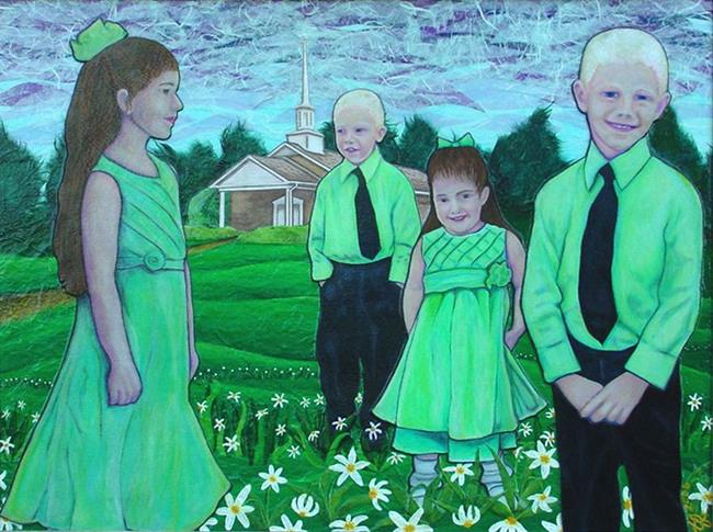 Art: Long Branch Easter by Artist Tina Marie Ferguson