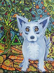 Art: Klimt's Blue Jessie by Artist Tina Marie Ferguson