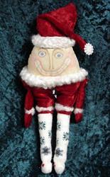 Art: Humpty Dumpty Santa by Artist Tina Marie Ferguson