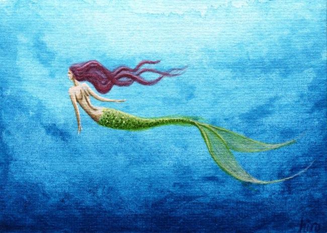 Mermaid swimming art