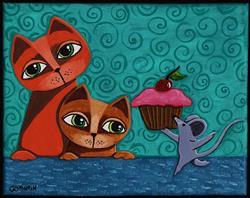 Art: Cupcakes by Artist Cindy Bontempo (GOSHRIN)