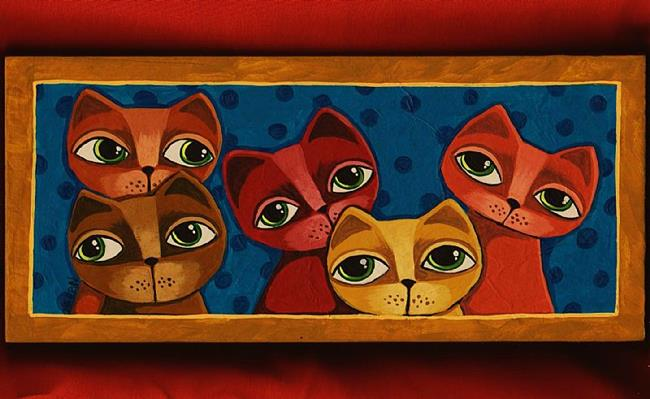Art: Cat Collaboration by Artist Cindy Bontempo (GOSHRIN)