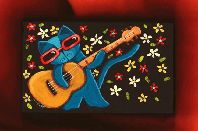 Art: Cat Blues by Artist Cindy Bontempo (GOSHRIN)