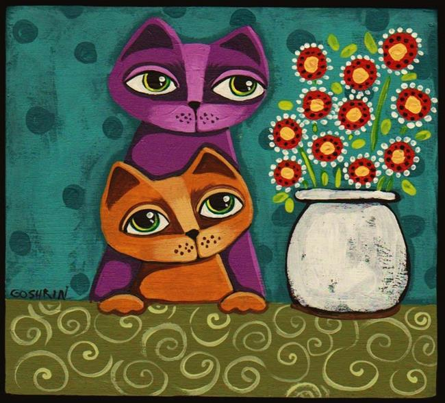 Art: Silly Kittens by Artist Cindy Bontempo (GOSHRIN)