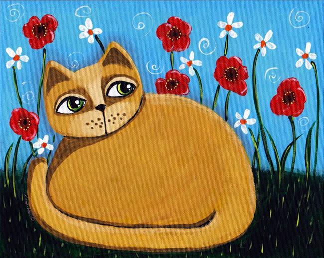 Art: Warm Kitten by Artist Cindy Bontempo (GOSHRIN)