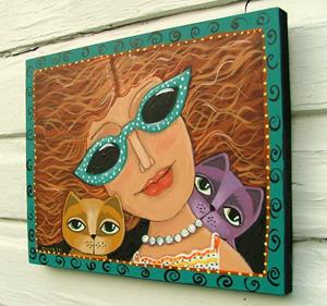 Detail Image for art Cat Lady
