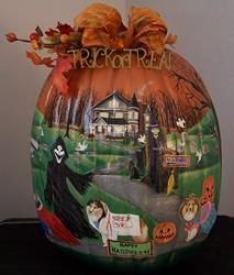 Art: 360 Halloween 6 Sheltie's Pumpkin Parade by Artist Lynnelily