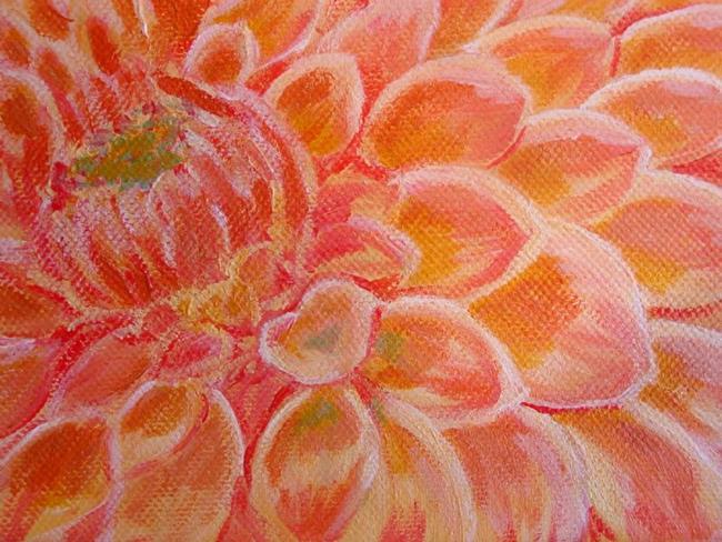 Art: Dahlia by Artist Donna Gill