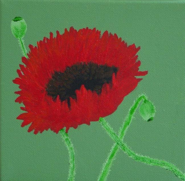 Art: Poppy by Artist Donna Gill