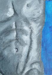 Art: Male Torso by Artist Donna Gill
