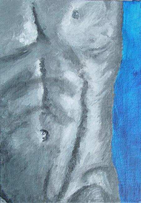 Art: Male Torso by Artist Donna Gill