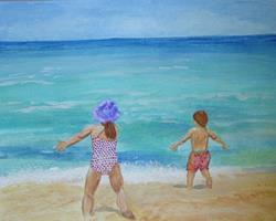 Art: South Carolina Beach Fun by Artist Donna Gill