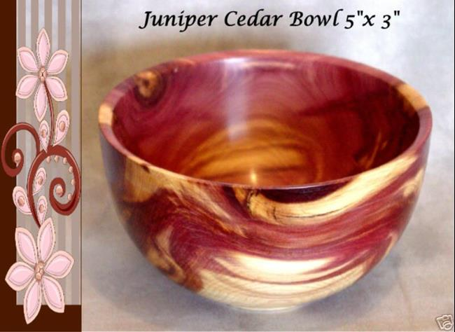 Juniper Cedar Wood Bowl By Daniel L Miller From My Wood