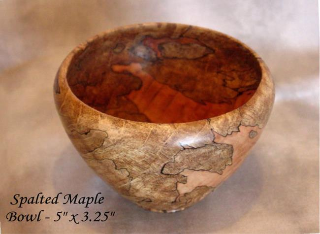 Spalted Maple Wood Bowl Art Spalted Maple Wood Bowl