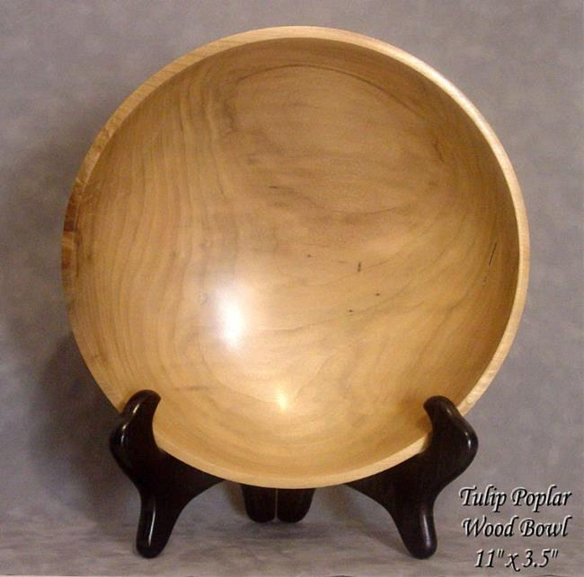 Art: Tulip Poplar Wood Bowl by Artist Daniel L. Miller